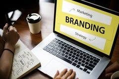 Branding Marketing Strategy Ideas Concept stock image