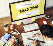 Branding Marketing Strategy Ideas Concept. Branding Marketing Strategy Ideas Planning stock photography