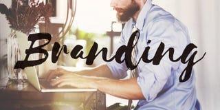Branding Marketing Trademark Label Concept.  stock photos