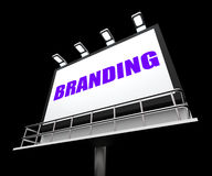 Branding Media Sign Indicates Company Brand Royalty Free Stock Photos