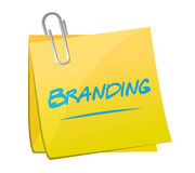 Branding memo post sign concept Stock Images