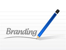 Branding message sign concept illustration Stock Image