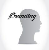 Branding mind sign concept illustration Stock Photography