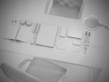 Branding mock up set of branding elements on gray background Royalty Free Stock Image