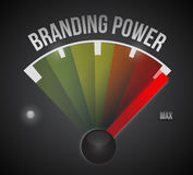 Branding power speedometer illustration Royalty Free Stock Photo