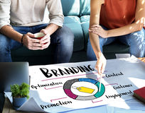 Branding Promotion Commercial Marketing Advertising Concept stock photo