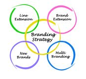 Branding Strategy. For successful business Royalty Free Stock Photography