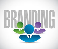 Branding team sign illustration design graphic Royalty Free Stock Photography