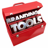 Branding Tools Marketing Company Business Awareness Toolbox Stock Images