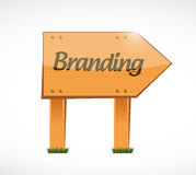 Branding wood sign concept illustration Stock Photo