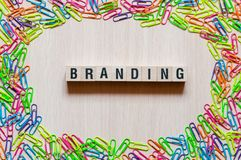 Branding word concept stock photography