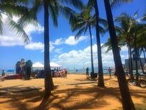 Brandingslessen op de het avonturenreis van de strand tropische vakantie Stock Foto