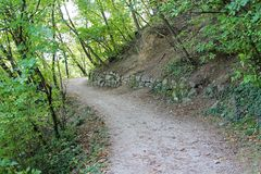 The Brandis Waalweg trekking path in Italy Royalty Free Stock Photo