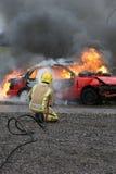 Brandkämpe på brand Royaltyfria Foton