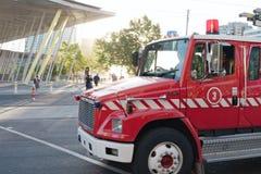Brandkårlastbil Arkivfoton