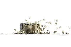 Brandkast en 10000 dollars Stock Fotografie
