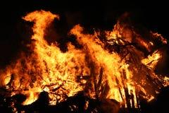 brandkatastrof Arkivfoton