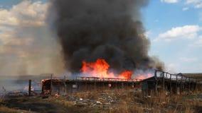 brandkatastrof stock video