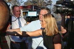 Brandklocka - mediabevakning royaltyfria bilder