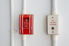 Brandlarm och telefon Royaltyfri Foto