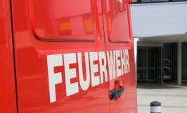 Brandlastbil, Österrike Arkivfoto