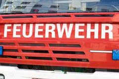 Brandlastbil, Österrike Arkivbilder
