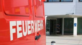 Brandlastbil, Österrike Arkivbild
