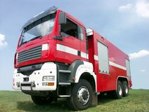 brandlastbil Fotografering för Bildbyråer