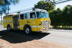 Brandlastbil i Oahu Hawaii Royaltyfria Bilder