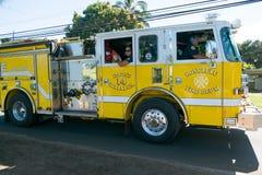 Brandlastbil i Oahu Hawaii Royaltyfri Bild