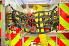Brandlastbil som är klar att reagera till nödläget Royaltyfria Foton