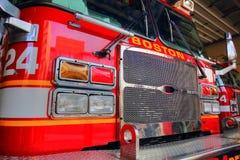 Brandlastbil som är klar att reagera till nödläget Royaltyfri Foto