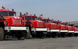 Brandlastbilar arkivfoton