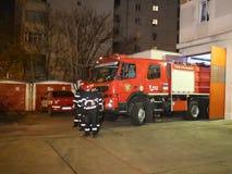 Brandlastbilen rusar på lager videofilmer