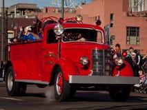 Brandlastbilen rusar på Royaltyfria Bilder