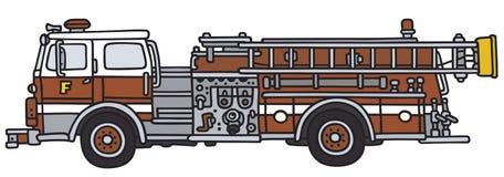 Brandlastbilen rusar på stock illustrationer