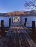 Brandlehow jetty, Derwentwater, Cumbria Stock Photo
