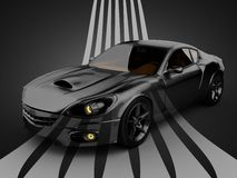 Brandless LuxusSportwagen Stockbilder