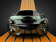 Brandless LuxusSportwagen Lizenzfreies Stockfoto