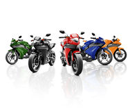 Brandless Motorcycle Motorbike Vehicle Concept Stock Photo