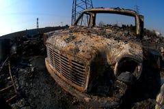 brandliggande Fotografering för Bildbyråer