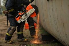 brandmän Arkivbild