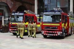 Brandmän i UK Royaltyfri Fotografi