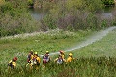 Brandmän i utbildning Royaltyfria Foton