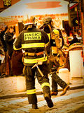 brandmän prague arkivbild