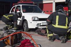 brandmanövning arkivfoto