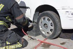 brandmanövning fotografering för bildbyråer