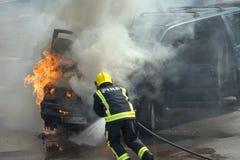 Brandman! fotografering för bildbyråer