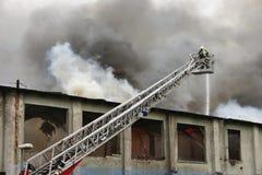 brandman för 2 arbetsuppgift Royaltyfri Fotografi