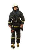 Brandman med yxan arkivbilder